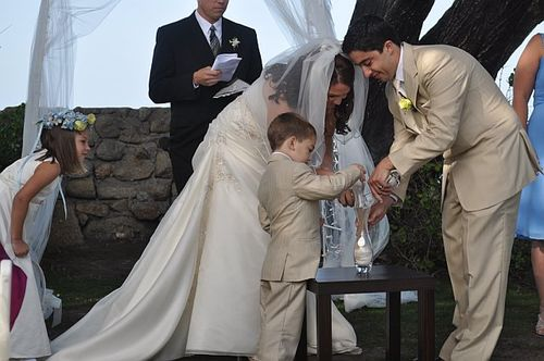 The sand ceremony